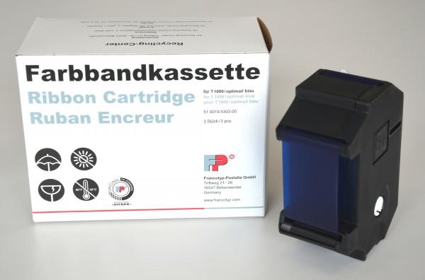 Farbbandkassetten in Blau für Frankiermaschine T1000/OptiMail, GKS, GKA