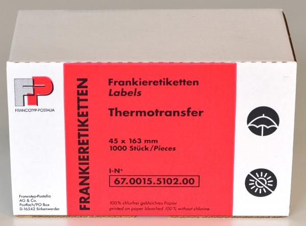 Frankieretiketten für Thermotransferdruck - lang