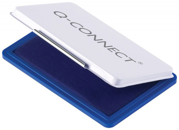 Q-Connect Metall Stempelkissen - blau