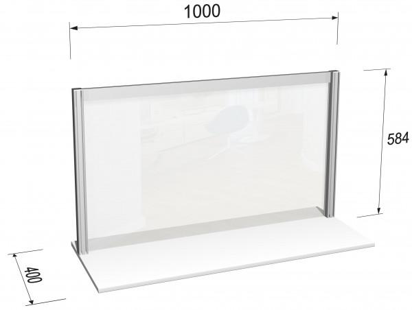 Hygieneschild horizontal L