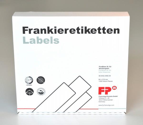 Frankieretiketten XL für Streifengeber PostBase
